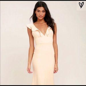 Lulu's Perfect Opportunity Pale Blush Maxi Dress